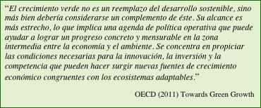 texto de OECD, crecimiento verde